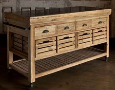The Washington - Rolling Kitchen Island