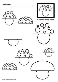 Ressource pédagogique sur le thème de l'automne : le rond 3 Year Old Activities, Autumn Activities For Kids, Preschool Activities, Preschool Worksheets, Preschool Education, Homeschool Math, Pre Writing, Writing Skills, Drawing Tutorials For Kids