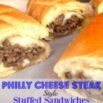 A Southern Soul: Philly Cheese Steak Style Stuffed Sandwiches Goat Cheese Sandwiches, Philly Cheese Steak Sandwich, Wrap Sandwiches, Delicious Sandwiches, Beef Recipes, Cooking Recipes, Oven Cooking, Easy Food To Make, Cheesesteak