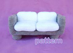 amigurumi pattern  modern sofa by amieggs on Etsy, $5.50