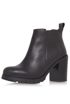 **High Heel Pull On Leather Ankle Boots by Kurt Geiger