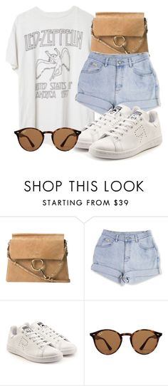 """""""Untitled #2039"""" by mariandradde ❤ liked on Polyvore featuring Brandy Melville, Chloé, adidas, Ray-Ban, etsy, rayban, chloe and brandymelville"""