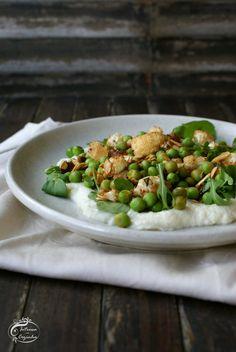 Intrusa na Cozinha - Salada de Ervilhas e creme de couve-flor //  Peas salad and cauliflower cream