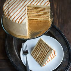 Caramel and Cream Smith Island Cake