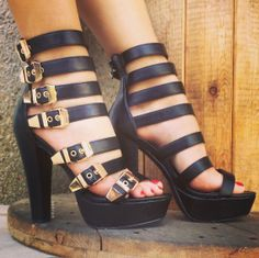 5ee9cad80e05 7 Minutes In Heaven Strappy Heels · Black Strappy HeelsSexy High HeelsDream  ShoesCrazy ...