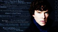 Some of the best quotes by Sherlock.