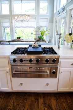 Viking with griddle and warming drawer. Shawna's Glamorous Custom Kitchen — Kitchen Tour | The Kitchn
