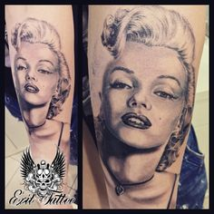 Marilyn Monroe. Portrait done at exit tattoo studio by Tzelos.