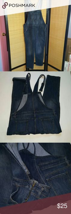 Gap jean jumper Blue jean jumper xl tall,wore once, adjustable straps, has some stretch very cute and comfortable, no trades reasonable offers only thanks GAP Pants Jumpsuits & Rompers