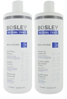 cool BOSLEY BOS REVIVE Shampoo and Conditioner Set Liter 33.8 oz Visible Thining Non Color Treated hair
