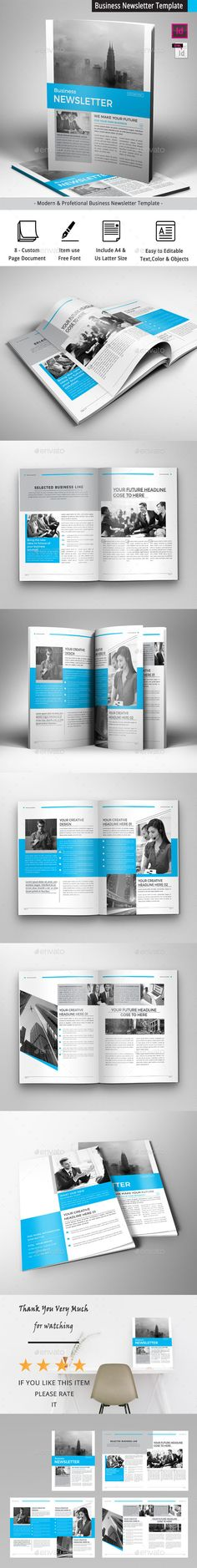 Business Newsletter Template Template per newsletter, Loghi e Font - free business newsletter templates