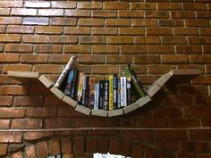 Solid Meranti floating shelves and book bridges.  #bookbridge #floatingshelves #candycat #southafrica #handmade