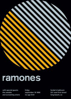 swissted shop - ramones at fender's ballroom, 1986