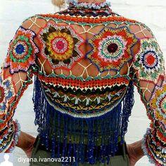 Exceptional Stitches Make a Crochet Hat Ideas. Extraordinary Stitches Make a Crochet Hat Ideas. Crochet Bolero, Poncho Au Crochet, Crochet Jacket, Freeform Crochet, Crochet Cardigan, Knit Crochet, Moda Crochet, Hippie Crochet, Crochet Summer Tops