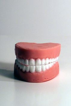Who wouldn't want to lather up with a sweet set of teeth? Soap by SundayMorningSoaps on Etsy, $5.00