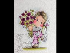 For You Tilda. Step by Step Instructions for Water Coloring by HeathersHobbieHaven.