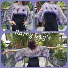 Rainy Day`s Ärmelschal wurde von mir entworfen, das Regenwetter im Mai 19 hat mich dazu inspiriert Mai, Tank Tops, Design, Tejidos, Tutorials, Rainy Weather, Short Jackets, Gown Dress, Halter Tops