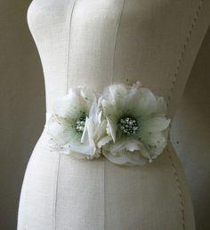 flower wedding sash