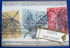 Block Stamped Very Vintage Leaves Just Ink, Stampin Up, Card Stock, Ann, Happy Birthday, Leaves, How To Make, Cards, Vintage