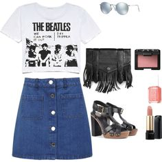 Outdoor Concert by fromphilly on Polyvore featuring polyvore, fashion, style, Miss Selfridge, Proenza Schouler, Ray-Ban, Lancôme, NARS Cosmetics and Essie
