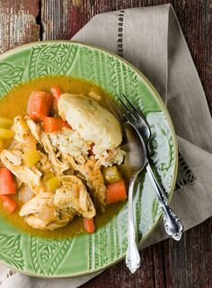 Slow Cooker Chicken and Dumplings - comfort food extraordinaire!