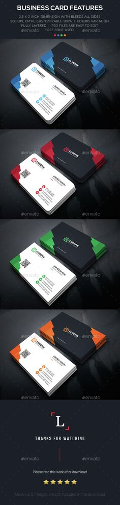 Color Shape Business Card Template PSD. Download here: http://graphicriver.net/item/color-shape-business-card/15400346?ref=ksioks