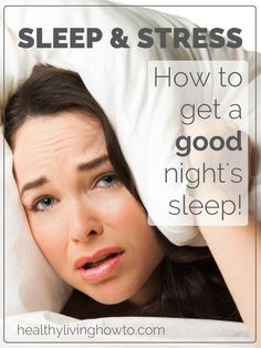 good info on improving sleep and reducing stress.