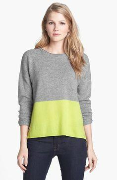 Halogen® Colorblock Cashmere Pullover | Nordstrom