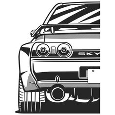 Nissan Skyline R32 GTR. Fragment. Scroll right. T-shirts, covers, posters, stickers - already available in my store on #redbubble. Link in BIO. #36 #olegmarkaryan #carart #cardrawing #automotive #automotivearts #carinstagram #cargram #speedhunters #stancenation #godzilla #nissan #nissanlove #nissanlife #skyliner32 #nissanskyline #gtrr32 #gtr #bnr32