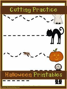 Halloween Printables: Cutting Practice - http://3boysandadog.com/2013/10/halloween-printables-cutting-practice/?Halloween+Printables%3A+Cutting+Practice