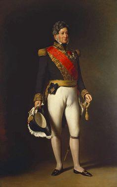 Le roi Louis-Philippe Ier en 1845. Descendant de Louis XIII, cousin éloigné de Charles X et fils de Philippe-Égalité, il est le chef de la branche cadette de la maison de Bourbon.