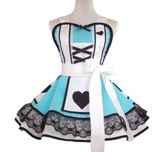 Alice in Wonderland Costume Apron, Alice In Wonderland Cosplay Apron