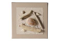 Tableau composition marine Nature 20 cm cendre brune - Coc'art Créations
