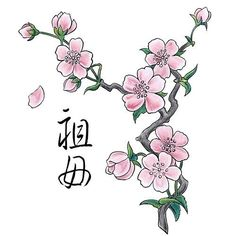 peach tree blossom sketch -tatoo - Google Search