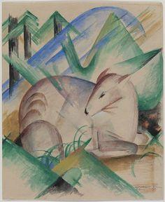 Franz Marc (1880–1916), Red Deer, Guggenheim