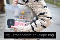 DIY – transparent envelope bag