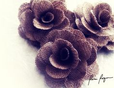 Two Dozens Large Rustic Eco-friendly Rose Made of Burlap | AccentsandPetals - Floral on ArtFire