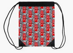"""London"" Drawstring Bags by bubbliciousart 