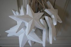 Image of Wooden Painted chunky hanging Stars