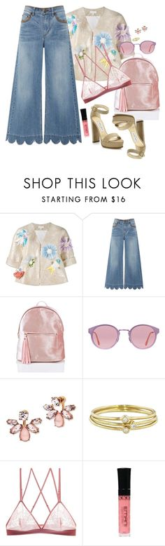 """What's the Flavor of the Day?"" by chelsofly on Polyvore featuring Delpozo, RED Valentino, RetroSuperFuture, Marchesa, Jennifer Meyer Jewelry, G-Love Lingerie, Emani and Jimmy Choo"