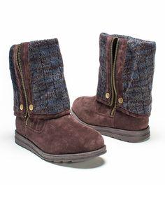f47f87c61d52e Love this Dark Brown Demi Boot - Women by MUK LUKS on  zulily!