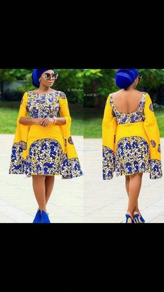Yellow African print midi dress,african clothing for women,ankara print dress,ankara clothing,africa Ankara Dress Styles, Ankara Gowns, African Print Dresses, African Print Fashion, Africa Fashion, African Fashion Dresses, African Dress, Fashion Outfits, Fashion Ideas