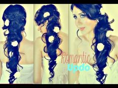 ★REALLY ROMANTIC UPDO WITH CURLS FOR LONG HAIR TUTORIAL| EASY FORMAL WEDDING PROM HAIRSTYLES Peonado, via YouTube.