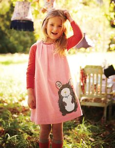 Animal Appliqué Pinafore 33322 Day Dresses and Pinnies at Boden  J likes both animals