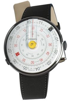 Klokers Klok-01-D1 Yellow Matte Black Leather (KLOK-01-D1-KLINK-01-MC2)