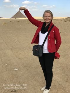 A writer of historical fiction needs to know the subject. As all my fantasy books are connected to ancient Egypt, of course I need to go to Egypt. Here I am saying hello to the Red Pyramid - the first real straight pyramid in Egypt. Ancient Egypt For Kids, Red Pyramid, Witch Series, University Of Manchester, Book Of The Dead, Outline Illustration, A Writer's Life, Fantasy Books, Historical Fiction