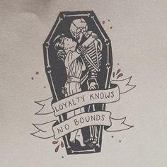 would make nice tattoo Loyalty Vanitas, Body Art Tattoos, Cool Tattoos, Skull Tattoos, Tatoos, Coffin Tattoo, Flash Art, Future Tattoos, Skin Art