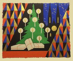 Late 1920s Art Deco Christmas Card Vintage Christmas Cards, Christmas Images, Christmas Greetings, King Club, 1920s Art Deco, Kitsch, Smiley, Elves, Graphic Illustration