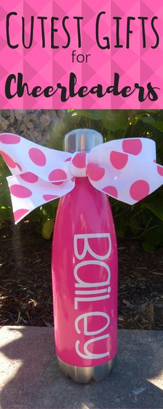 $14. personalized water bottle, personalized gift, Bachelorette party gift, teacher gift, teacher appreciation, cheerleading gift, cheer gift. #cheerleading #ad