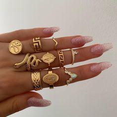 women rings wedding ring set womens rings jewelry punk snake ring natural stone statue Buddha bohemian 's ring anillos Cute Jewelry, Jewelry Box, Jewelry Rings, Jewelery, Vintage Jewelry, Jewelry Accessories, Fashion Accessories, Women Jewelry, Fashion Jewelry